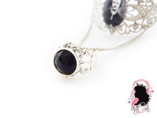 Antique Silver Edgar Allan Poe Bangle and Ring
